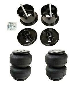 61 62 Cadillac Front Air Ride Suspension Kit Airlift D2500 Airbags Mounting Cups