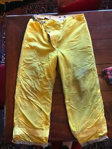 Globe Firefighter Bunker Turnout Pants Size 36 X 28 With Liner
