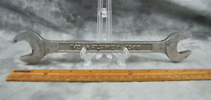 Vtg Collectible Plvmb 3040 Open End Wrench Pebble Background 13 16 7 8 U S A