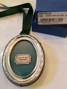 New Sterling Silver England Exposures 2 5 X 3 Photo Frame Christmas Ornament