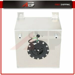 5 Gallon Drift aluminum Racing street Fuel Cell Gas Tank level Sender