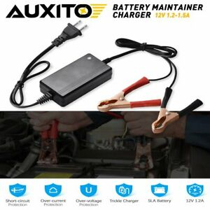 Battery Charger Maintainer 12v 1 5a Volt Trickle Rv Car Truck Motorcycle Mower