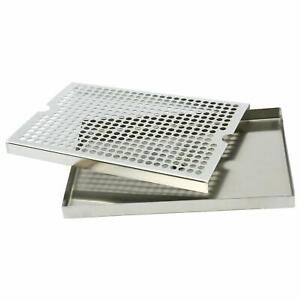 Beer Drip Tray Surface Mount With Drain 12 X 9 Stainless Steel Kitchen