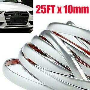 25ft Chrome Molding Trim Garnish For Car Truck Body Side Grille Bumper Guard