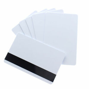 10 Pcs White Cr80 Pvc Credit Card Loco Magnetic Stripe 30 Mil For Id Printers