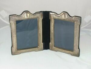 Vintage Sterling Silver Mappin Webb Double Folding Travel Photo Frame