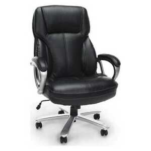 Ofm Inc Ess 202 blk Big And Tall Chair With Arms leather blk