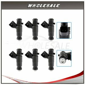 6 Fuel Injectors For 2006 2004 Cadillac Cts Buick Rendezvous 3 6l 0280156131