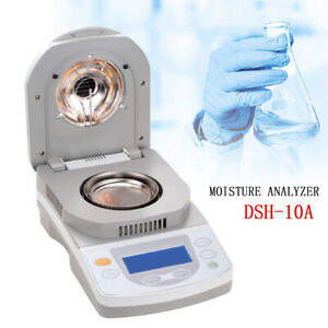 Moisture Analyzer Dsh 10a Halogen Heating For Grain Wood Mineral 3 10g Sample Us