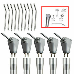 5 Kits Dental Air Water Spray Syringe 3 way Handpiece With Tips Tubes Nozzles