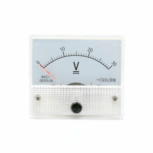 Model 85c1 Dc 0 30v Volt Analog Panel Voltmeter Gauge Mechanical Voltage Meter