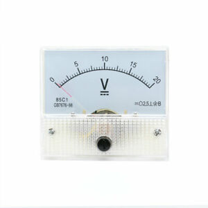 Model 85c1 Dc 0 20v Volt Analog Panel Voltmeter Gauge Mechanical Voltage Meter