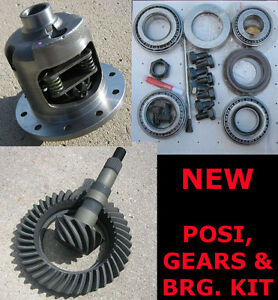 Gm 55 64 Chevy 10 bolt Drop out 8 2 55p Posi Gears Bearing Package 3 73 New