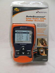 Actron Cp9670 Auto Scanner Trilingual Obd Ii Live Data
