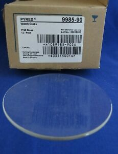 12 Pyrex Plain Watch Glass Beaker Cover 90mm Diameter 9985 90
