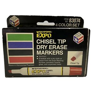 Sanford Chisel Tip Expo Dry Erase Markers 1 Doesn t Look As Old See Pics Vintage