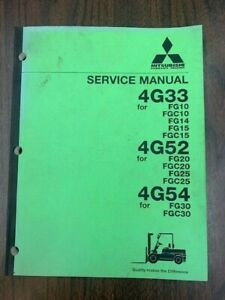 Mitsubishi Forklift Engine 4g33 4g52 4g54 Service And Repair Manual