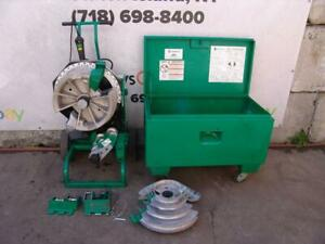 Greenlee 555dx Pipe Bender 1 2 To 2 Inch Emt Imc Rigid Shoes Works Great