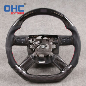 Real Carbon Fiber Led Steering Wheel For Dodge Charger Challenger Chrysler 300