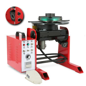 New Arrival 30kg 110v Rotary Welding Positioner Turntable Timing 200mm Chuck
