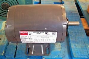 New Dayton 1 Hp Electric Motor 56 Frame 208 230 460 Vac 3450 Rpm 3 30pt92
