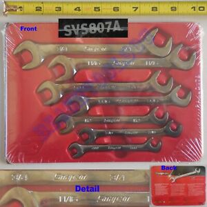 New Snap On Sae Open End Four way Angle Head Wrench 7 Pcs Set Svs807a Usa