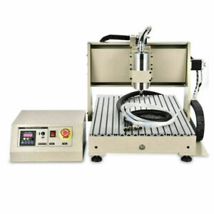 Usb 4 Axis 6040 Cnc Router Engraver Milling Driiling Machine 1 5kw Vfd Spindle