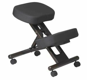 Office Star Ergonomic Knee Chair Memory Foam And Espresso Finished Wood Base