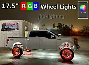 Jhb Lighting 17 5 Ip68 Rgb Color Changing Bluetooth Ctrl X4pcs Led Wheel Lights