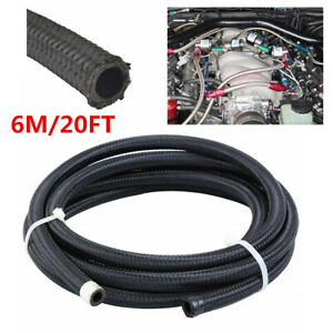 Nylon Stainless Steel Braided Oil Fuel Hose Pipe 6m An4 4an For Car Transmission