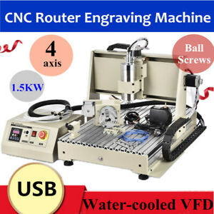 4axis 6040 Cnc Usb Router Engraver Engraving Machine Woodwork Cutting Milling