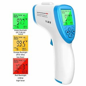 Non contact Infrared Forehead Thermometer W Lcd Digital Meter Temperature Taker