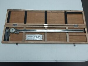 dp t 7341 Spi 12 977 5 0 To 24 Dial Caliper In Wood Case