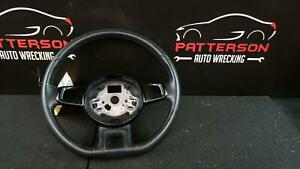 2012 Vw Beetle Black Leather Wrapped Steering Wheel