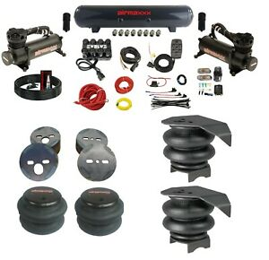 Complete Air Ride Suspension Kit Chevy 88 98 C15 Manifold Valve Bags 480 Black