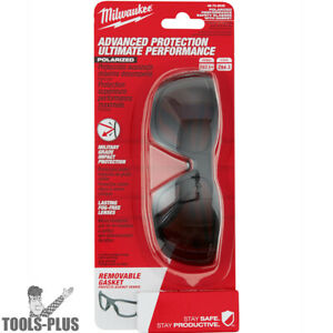 Milwaukee 48 73 2045 Polarized Performance Safety Glasses W Gasket New
