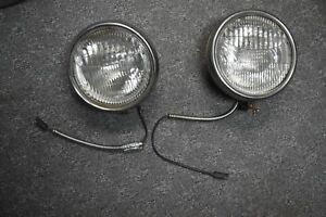 Original Early Ford Twolite Headlamps W Original Flat Glass Sealed Beam