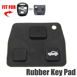 2 3 Buttons Car Remote Key Fob Black Rubber Pad Replacement For Toyota Avensis
