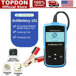 Car Battery Tester 12v On Cranking Charging System Scan Tool Ab101 100 2000 Cca