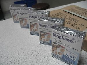 6 000 Self Adhesive Peel And Stick Business Card Promotional Magnets