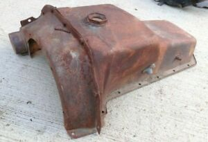 1932 1947 Ford Truck Flathead V8 Engine 2 Piece Oil Pan Original Inspection