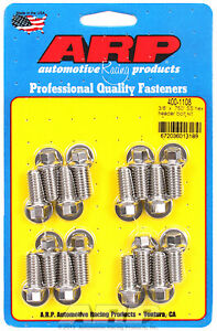 Arp 400 1108 Header Bolts 5 16 Hex Head Stainless Set Of 16 750 Uhl Bbc ford