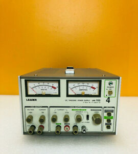 Leader Lps152 0 To 6v 0 To 5a Triple Output Dc Power Supply for Parts Repair