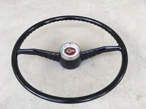 Nos 1955 1956 Pontiac Chieftain Steering Wheel With Horn Button Gorgeous