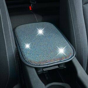 Bling Black Car Center Console Pad Auto Armrest Seat Box Cover Protector Cushion