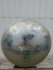 Vintage Plymouth Hubcap Antique Dog Dish