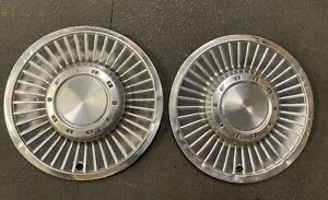 2 Vintage 1963 Ford Galaxie 500 Dog Dish Poverty Turbine Hubcaps Wheel Covers