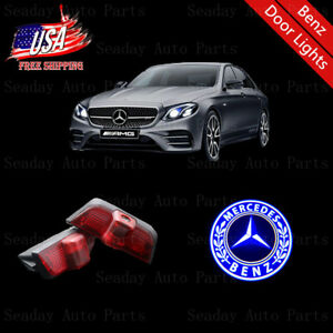 Led Door Ghost Courtesy Projector Blue Logo Lights For Benz C Class W204 2008 14