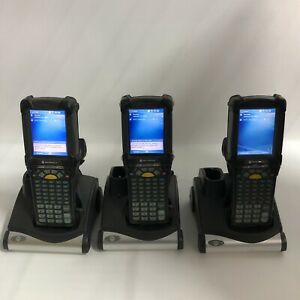 Lot Of 3 Symbol Motorola Mc9090 gf0hjgfa6wr Windows Mobile Barcode Scanner