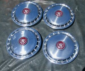 4 Oem 1985 1988 Cadillac Deville Fleetwood Fwd 14 Hubcaps Wheel Covers Nice 87